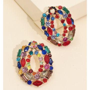 Nueva moda exagerada pendientes huecos personalidad personalidad pendientes de temperamento frío nihaojewelry al por mayor NHJJ216095