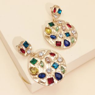 new  exaggerated geometric earrings fashion diamond  personality cold style earrings nihaojewelry wholesale NHJJ216099's discount tags
