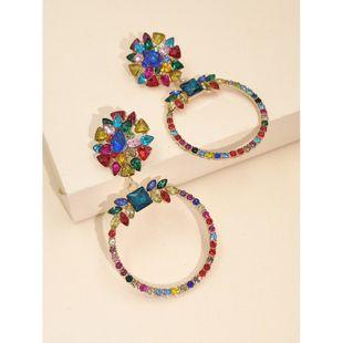 fashion new geometric diamond creative creative fresh earrings nihaojewelry wholesale NHJJ216100's discount tags