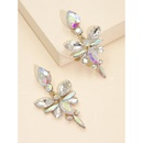 new geometric flowershaped earrings  hot sale fashion  exaggerated creative diamond alloy ear jewelry female nihaojewelry wholesale NHJJ216102