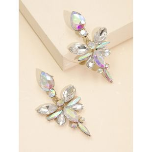 new geometric flower-shaped earrings  hot sale fashion  exaggerated creative diamond alloy ear jewelry female nihaojewelry wholesale NHJJ216102's discount tags