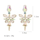 new geometric flowershaped earrings  hot sale fashion  exaggerated creative diamond alloy ear jewelry female nihaojewelry wholesale NHJJ216102