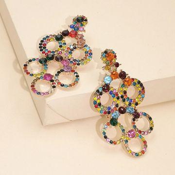 Nueva moda exagerada geométrica pendientes huecos personalidad personalidad pendientes de estilo frío nihaojewelry al por mayor NHJJ216103