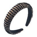 korean simple highend sponge hairband simple widebrimmed fashion handbeaded  temperament headband nihaojewelry wholesale NHLN216120