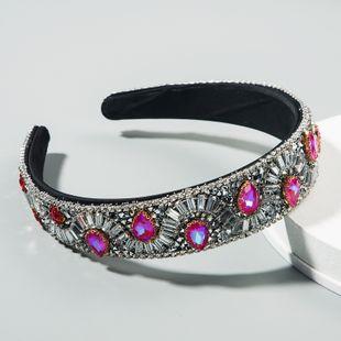 Baroque retro creative headband multi-layer rhinestone starry super flash wide-brimmed luxury prom hair accessories headband nihaojewelry wholesale NHLN216125's discount tags
