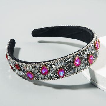 Baroque retro creative headband multi-layer rhinestone starry super flash wide-brimmed luxury prom hair accessories headband nihaojewelry wholesale NHLN216125