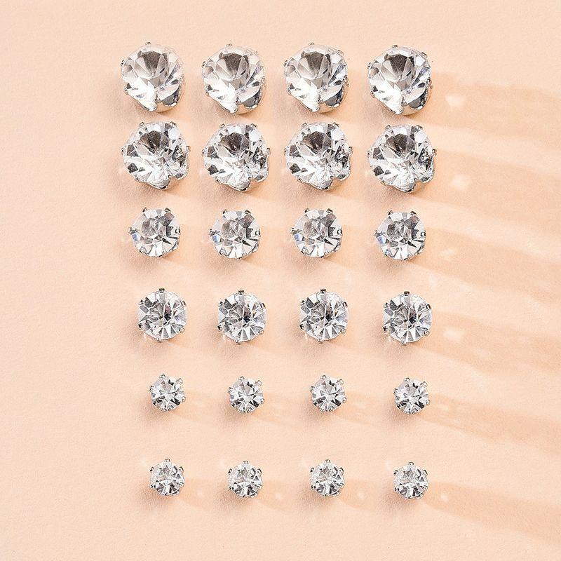 Korean  new simple fashion earrings set  creative diamond temperament earrings 12 cards nihaojewelry wholesale NHMD216139