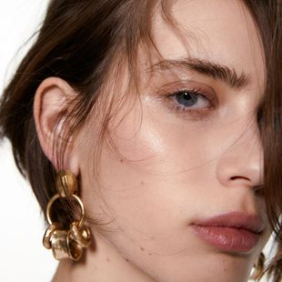 fashion new  simple cold style  geometric alloy texture earrings nihaojewelry wholesale NHMD216140's discount tags