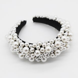 New fashion temperament exaggerated sponge pearl ball headband personality  party hair accessories nihaojewely wholesale NHWJ216164's discount tags