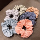 Fresh fabric solid color small plaid hair circle simple  circle girl wild hair rope head rope nihaojewelry wholesale NHNA216184