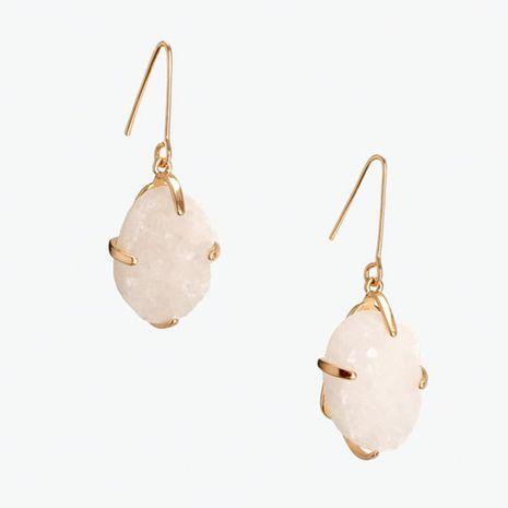 mode simple longue géométrique personnalité imitation pierre boucles d'oreilles simple personnalité résine boucles d'oreilles bijoux nihaojewelry gros NHLA216210's discount tags