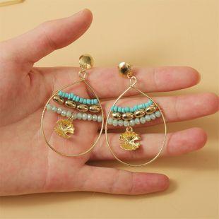 fashion simple geometric conch hand-woven rice bead earrings  nihaojewelry wholesale NHLA216214's discount tags