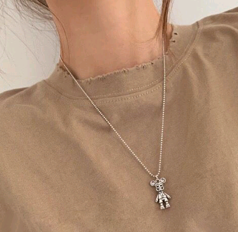 fashion retro simple cartoon pendant personality girl necklace NHSC217003's discount tags