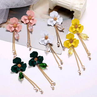 Korean style fashion simple flower fringe temperament earrings NHSC216998's discount tags