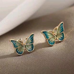 Exquisite women's animal earrings wholesale Korean fashion sweet petty butterfly earrings NHSC216991's discount tags