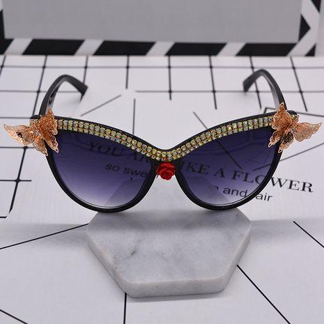 mode nouvelle vente chaude Métal Papillon Diamant Cat Eye Magnétique lunettes de Soleil Femmes Vintage Sculpté lunettes de Soleil En Gros NHNT216265's discount tags