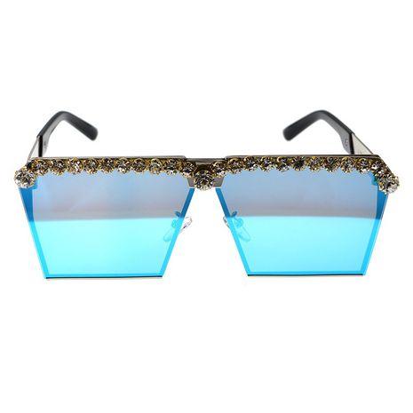 mode simple Baroque catwalk lunettes de soleil grand cadre carré polarisé anti-ultraviolet diamant lunettes de soleil nihaojewelry en gros NHNT216267's discount tags