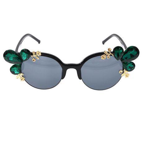 Korean fashion simple rhinestone  Baroque  sunglasses women personality cat eye sunglasses nihaojewelry wholesale NHNT216268's discount tags