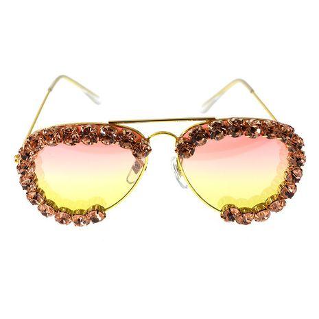 fashion simple new  handmade  diamond  personality high quality sunglasses nihaojewelry wholesale NHNT216272's discount tags
