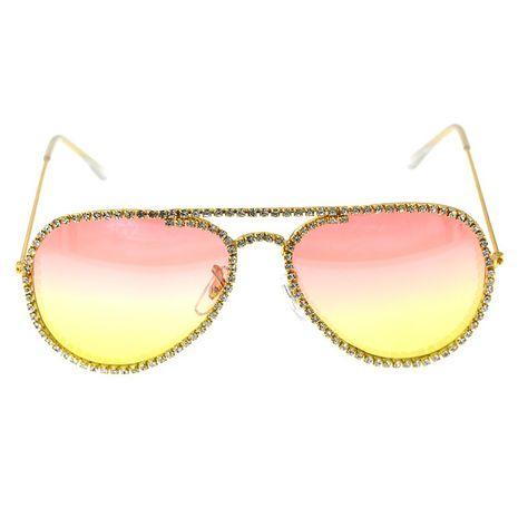 fashion  simple new elegant female tide  diamond avant-garde cat eye sunglasses personality cool sunglasses nihaojewelry wholesale NHNT216275's discount tags