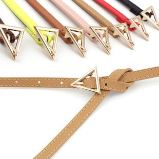 Korea new simple new triangle buckle belts  fashion hipsters  wild triangle personalized thin belts nihaojewelry wholesale NHPO216320's discount tags