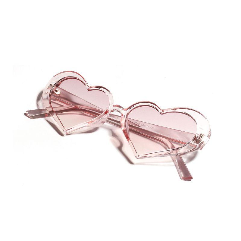 fashion new simple cute pink peach heart sunglasses  retro love sunglasses fashion European and American heart-shaped glasses nihaojewelry wholesale NHXU216338
