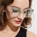 Korean fashion new simple  transparent frame color sunglasses women retro big frame sunglasses nihaojewelry wholesale NHXU216345