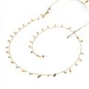 Highend zircon leaf handmade glasses chain personality fashion glasses rope lanyard glasses accessories wholesale  NHBC216389