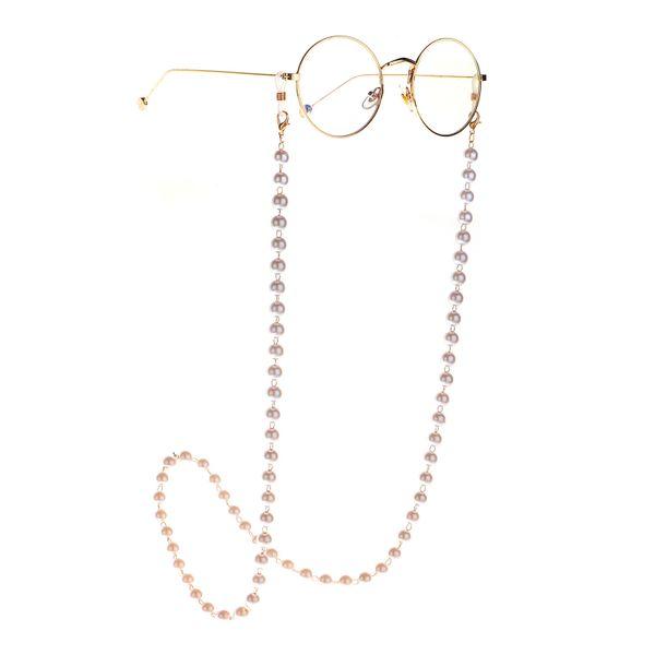 Nuevo 8mm Pearl Gold Glasses Chain Collar Gafas de sol Anti-lost fashion pearl glass chain wholesale NHBC216395