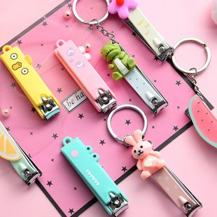 Creative cute nail clippers cartoon shape portable nail clippers folding manicure manicure knife nihaojewelry wholesale NHHE216465's discount tags