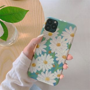 fashion Korean Fresh Daisy iPhone 11Pro mobile phone case for Apple MAX / XR liquid soft shell 7plusins silicone wholesale NHFI216518's discount tags