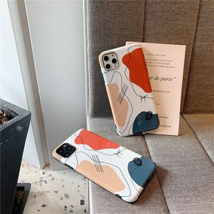 Korean  fashion simple  line art   Apple 11pro mobile phone shell suitable for iPhoneXs 8plus anti-fall all-inclusive soft case wholesale NHFI216520's discount tags