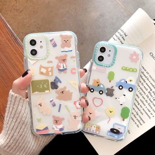Cute cartoon apple 11 pro max mobile phone shell for iphone xs 8plus soft shell 7plus protection phone case nihaojewelry wholesale NHFI216530's discount tags