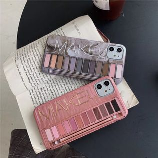 Personalized eye shadow box 8plus mobile phone shell suitable for Apple xs max  7plus all-inclusive protective cover girl soft phone case nihaojewelry wholesale NHFI216531