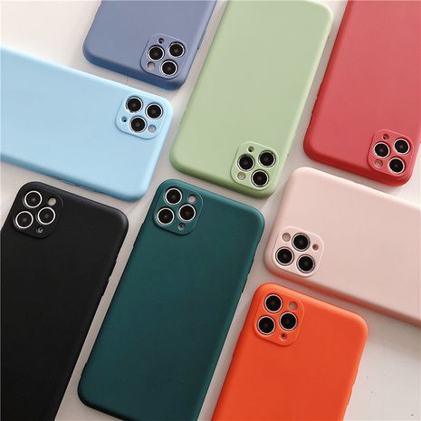 Apple 11Promax liquid soft silicone mobile phone case for iPhone XS  XR  7  8plus all-inclusive soft  phone case nihaojewelry wholesale NHFI216538's discount tags