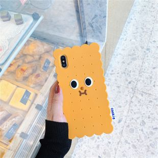 Cute cartoon biscuit villain 8plus mobile phone shell suitable for iphonexs max silicone all-inclusive protection phone case nihaojewelry wholesale NHFI216544's discount tags