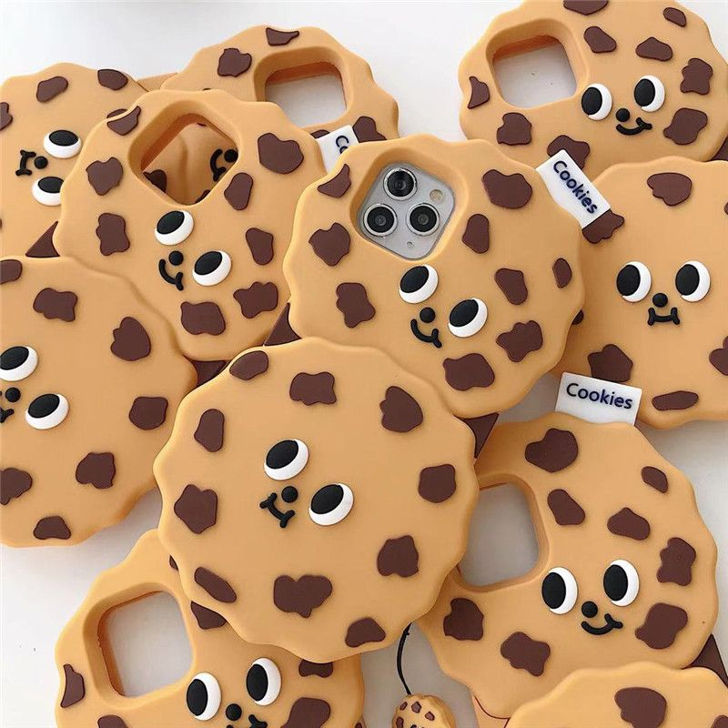 Korean cute cookie expression Apple 11Promax silicone mobile phone case for iPhone8plus  XR phone case nihaojewelry wholesale NHFI216549