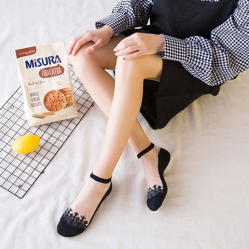 Crystal glass silk socks women's socks wholesale stockings fashion thin summer gift socks  NHFN216565