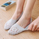 summer new ladies lace boat socks shallow mouth silicone cotton sole antiskid antishedding thin  boat socks NHFN216566