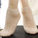 Park slightly fresh ultrathin womens socks summer breathable mesh boat socks combed cotton ladies socks  NHFN216576