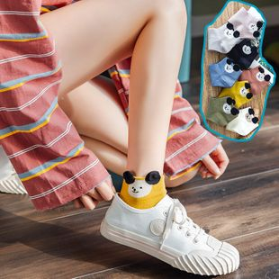 Korean summer new women's socks cartoon  Mouse boat socks three-dimensional ear short socks breathable sweat-absorbent cotton socks wholesale NHFN216578's discount tags