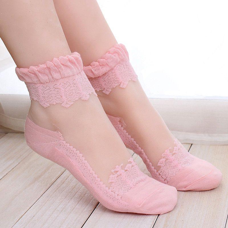 women's glass fiber socks wholesale short stockings short tube ultra-thin crystal socks summer socks wholesale NHFN216588
