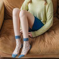 Calcetines transparentes de seda de vidrio verano coreano medias cortas lindo nuevo tubo calcetines medias de tarjeta nihaojewelry al por mayor NHFN216596