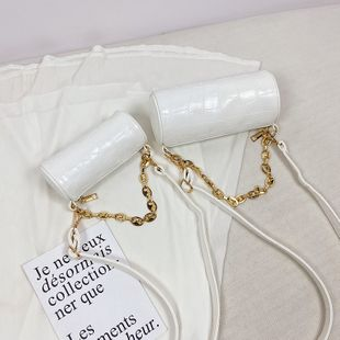 summer new women's bag fashion simple cylindrical small bag fashion shoulder messenger acrylic chain bucket bag nihaojewelry wholesale NHGA216818's discount tags