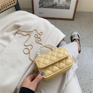 Pearl mobile small square bag  summer new girl small bag fashion shoulder messenger  bag nihaojewelry wholesale NHGA216819's discount tags