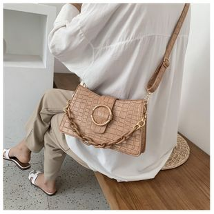 Summer new small bag  ladies bags tide  texture  air shoulder messenger bag acrylic chain  shoulder bag nihaojewelry wholesale NHGA216824's discount tags