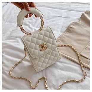 Verano nuevo bolso de mujer pequeña fragancia viento diamante cadena de color sólido bolso marea bolso de teléfono móvil hombro mensajero nihaojewelry al por mayor NHGA216832's discount tags