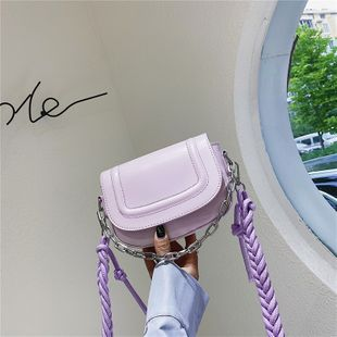 French niche bag  summer new fashion simple  bag retro saddle bag woven shoulder strap shoulder messenger bag nihaojewelry wholesale NHGA216835's discount tags