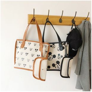 canvas bag  summer new fashion  cartoon shoulder bag large capacity  bag nihaojewelry wholesale NHGA216840's discount tags