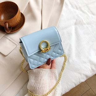Korean fashion new Candy color silicone bag  bag plastic small square bag simple chain shoulder messenger bag nihaojewelry wholesale NHGA216857's discount tags